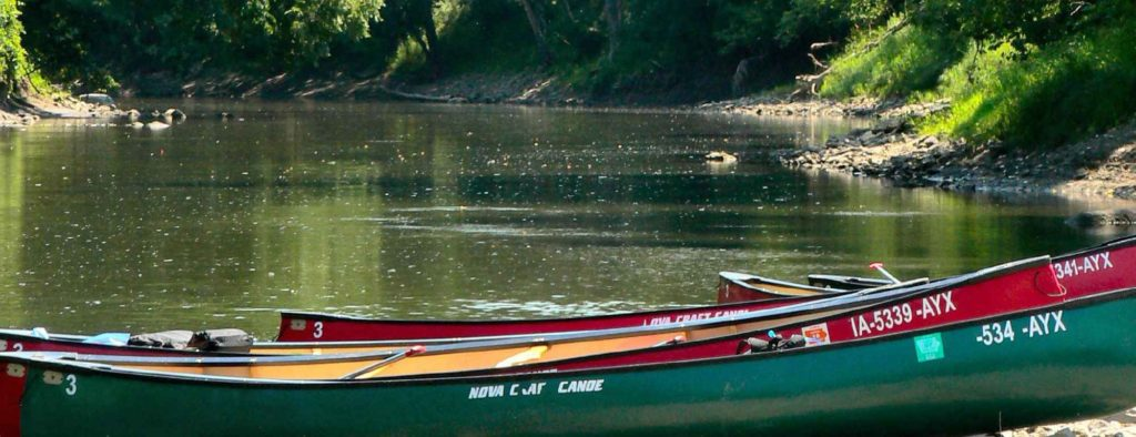 Canoes on Boone River