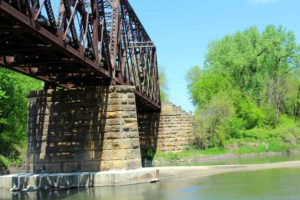 Train bridge over Boone River