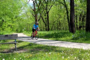 Biking on Boone River Recreational Trail