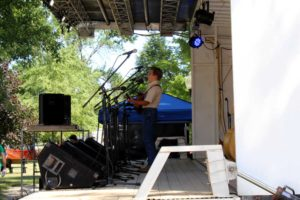 Performer at Bluegrass Festival