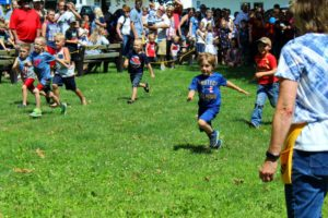 Foot races in the park